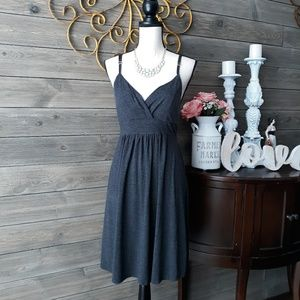 DEREK HEART GREY MIDI DRESS